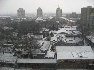 View from 12th floor at 12 Suzhou St the morning after Beijing's first snowfall of the season.